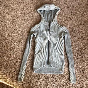 Lululemon Athletica Ribbed Hoodie Sweater Size 2